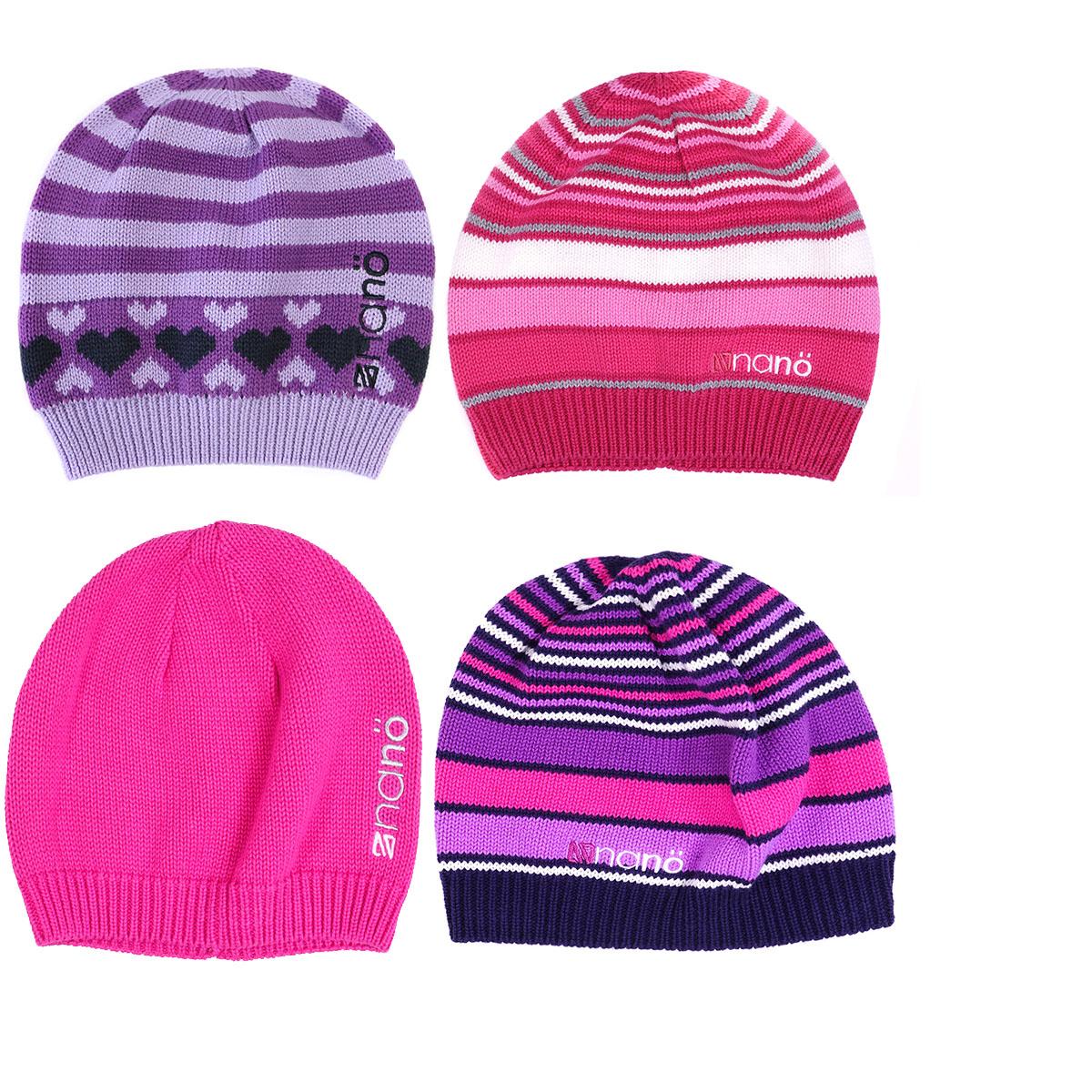 Демисезонные шапки для девочек без отворота.