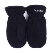 флисовые рукавички черные
