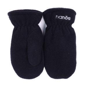 флисовые рукавицы черные