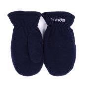 флисовые рукавицы синие