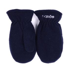 флисовые рукавички синие