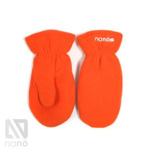 флисовые рукавички оранжевые