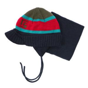 шапка и вязанная манишка F16ACC67EG