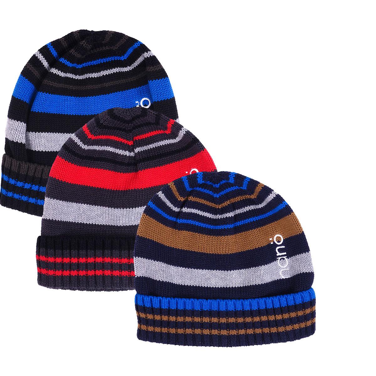 Демисезонная шапка  для мальчика с отворотом.