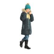 Зимнее пальто НАНО темно серое