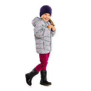 Куртка демисезонная для девочки серая