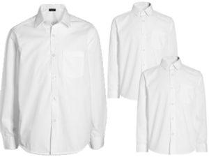 Рубашка школьная белая NEXT с тефлоновым покрытием