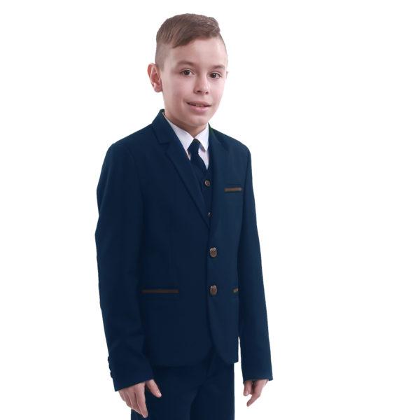 ПРЕСТИЖ пиджак синий карат1