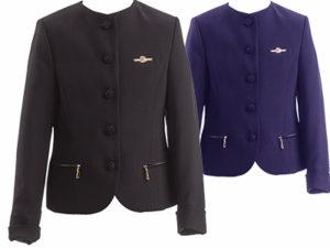 Пиджак школьный для девочки ФЕЯ, синий, черный