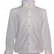 Школьная блузка РОБЕРТА белая