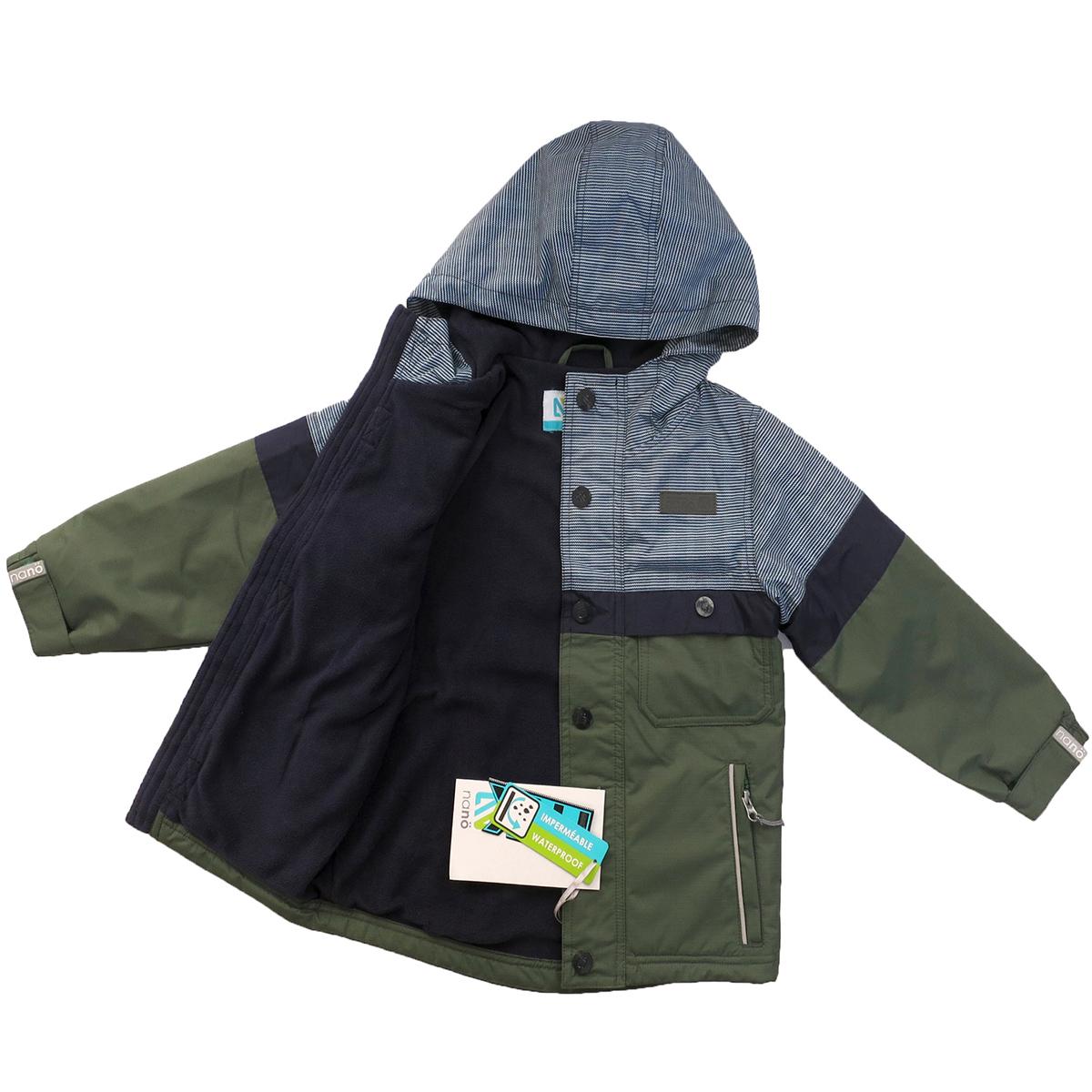 Куртка ветровка НАНО на флисе