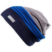 Демисезонная шапка бини серая