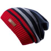 Демисезонная шапка бини черная