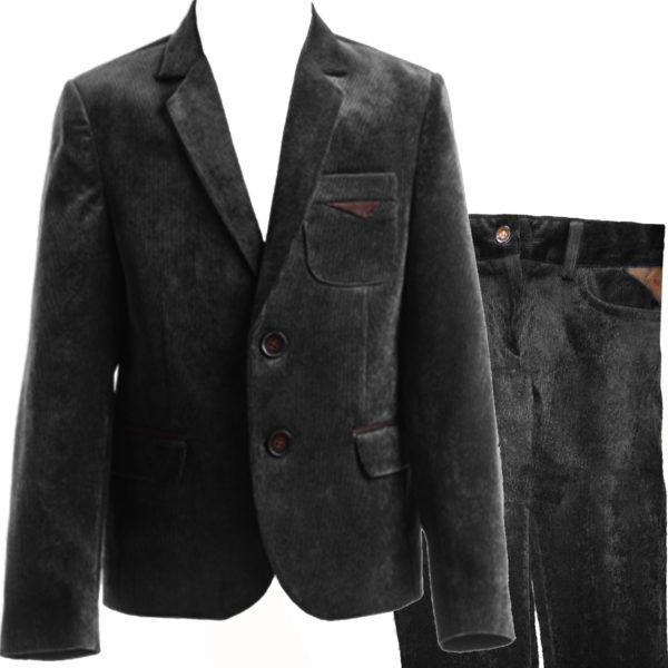 костюм ЭДВИН вельвет черный
