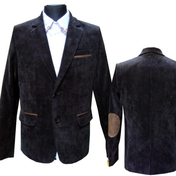 пиджак Челси вельвет черный