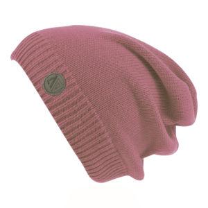 Демисезонная шапка сиреневая бини