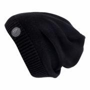Демисезонная шапка черная бини