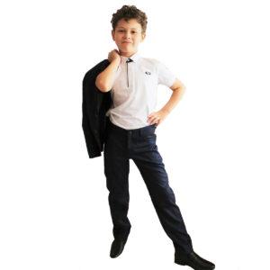Школьные брюки для мальчика синие модель ЭДВИН