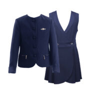 Школьный костюм для девочки  синий модель Фея