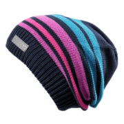 Демисезонная шапка бини синяя