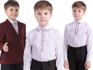 Школьная сорочка с вышивкой в украинском стиле