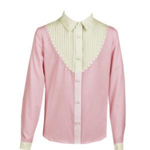 Розовая блузка на девочку