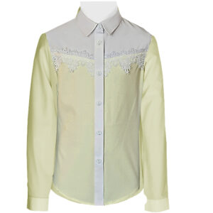 Желтая блузка на девочку ХЛОЯ